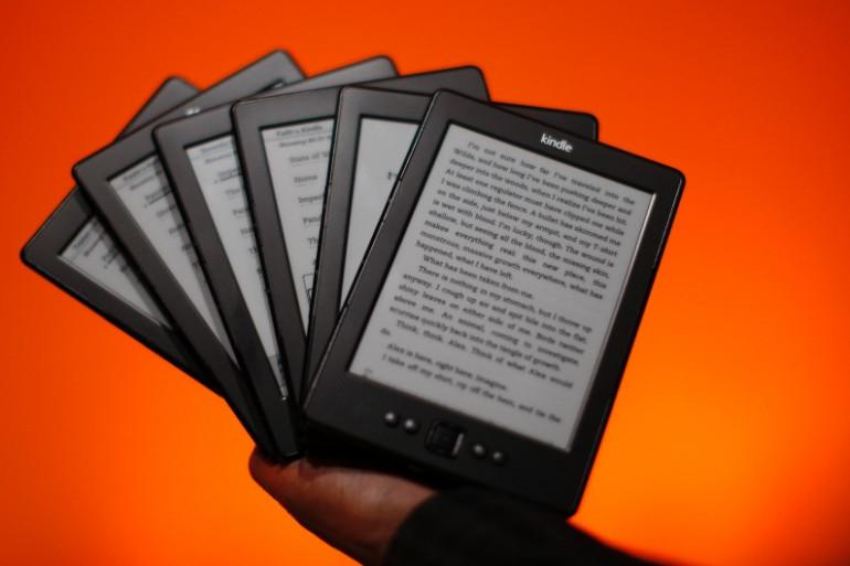 Des liseuses électroniques Kindle (Illustration)