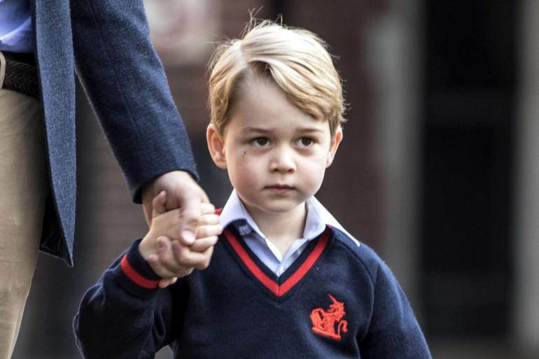 Le prince George lors sa première rentrée scolaire le 7 septembre 2017