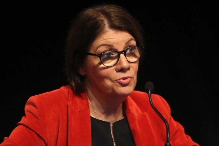 Agnes Le Brun, maire de Morlaix assiste au congrès des maires français le 21 novembre 2017 à Paris.