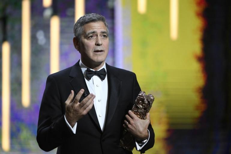 George Clooney et son César d'honneur en 2017