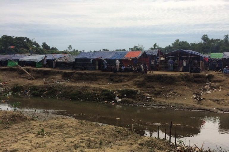 À la frontière banglado-birmane, dans la région de Cox's Bazar, une bande de terre située entre les deux pays, sur laquelle ont trouvé refuge des milliers de Rohingyas fuyant la Birmanie.