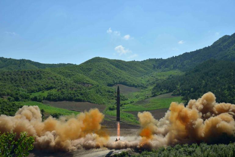 Une photo du missile envoyé par la Corée du Nord le 28 novembre 2017