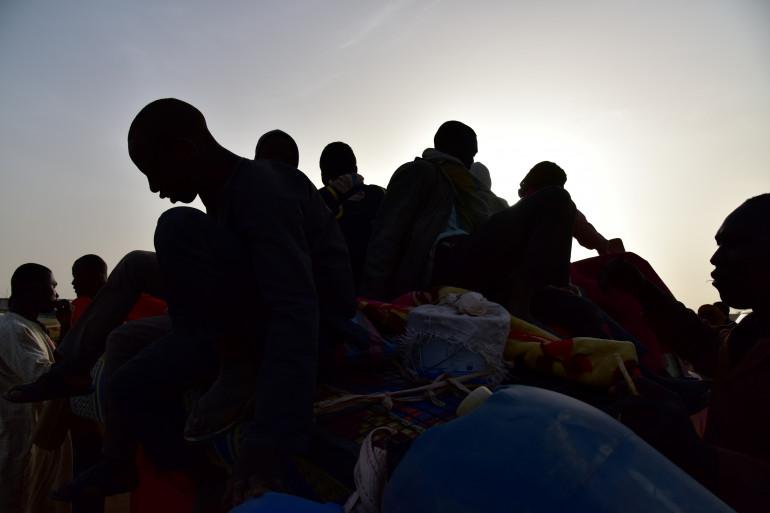 Des migrants de retour au Niger après avoir fuit la Libye en mars 2017 (illustration)