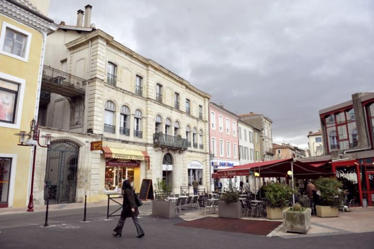 Le centre-ville d'Alès dans le Gard,considéré comme une ville moyenne