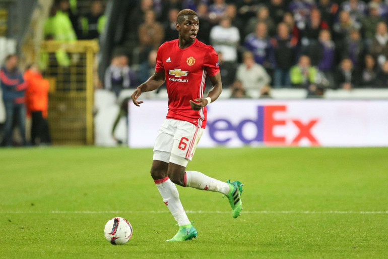 Paul Pogba sous les couleurs de Manchester United, en avril 2017