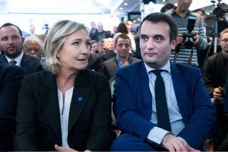 Marine Le Pen et Florian Philippot à Paris, le 5 janvier 2017.