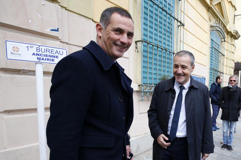 Gilles Simeoni et Jean-Guy Talamoni, le 3 décembre 2017 à Bastia