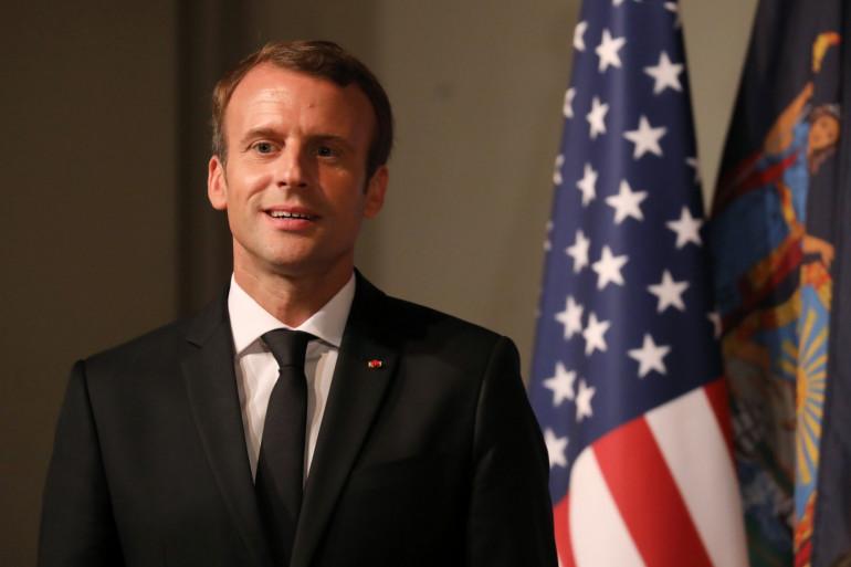 Emmanuel Macron à New York, le 20 septembre 2017