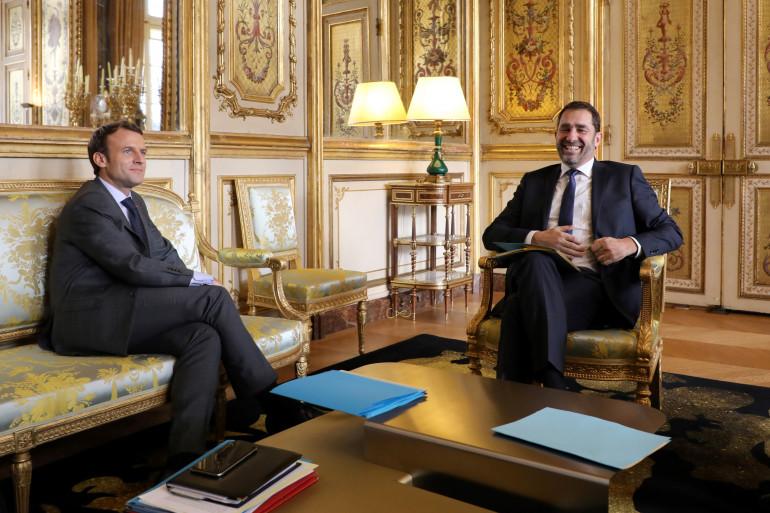 Emmanuel Macron et Christophe Castaner à l'Élysée