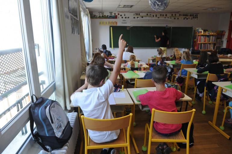Une classe de primaire (Illustration)