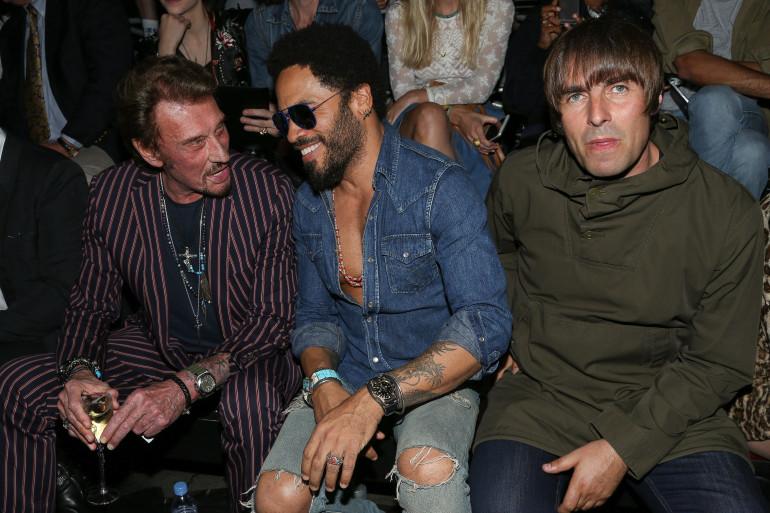 Johnny Hallyday, Lenny Kravitz et Liam Gallagher.