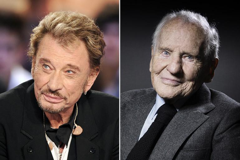 Johnny Hallyday et Jean d'Ormesson.
