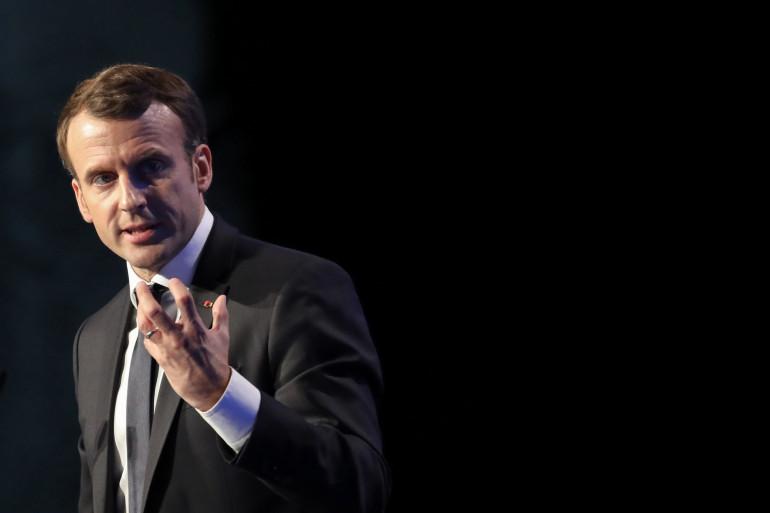 Emmanuel Macron, le 23 novembre 2017 à Paris