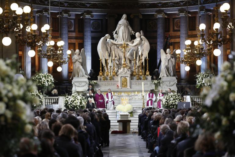 L'église de la Madeleine lors de l'hommage populaire à Johnny Hallyday, le 9 décembre 2017