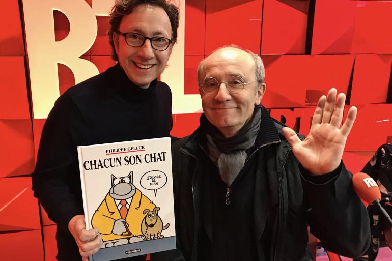 Philippe Geluck et Stéphane Bern