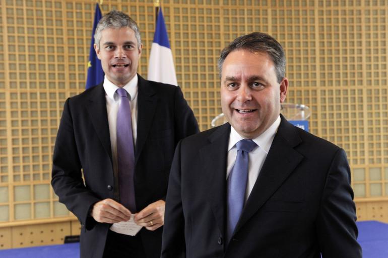 Laurent Wauquiez et Xavier Bertrand en novembre 2010