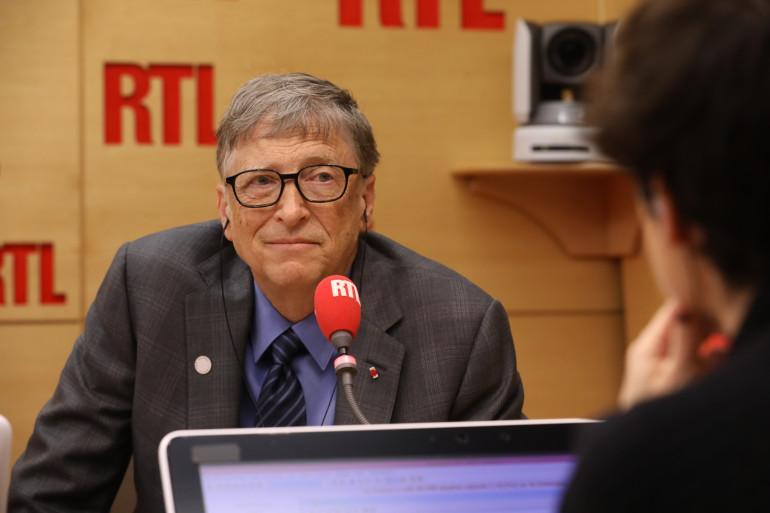 Bill Gates dans les studios de RTL, le 11 décembre 2017
