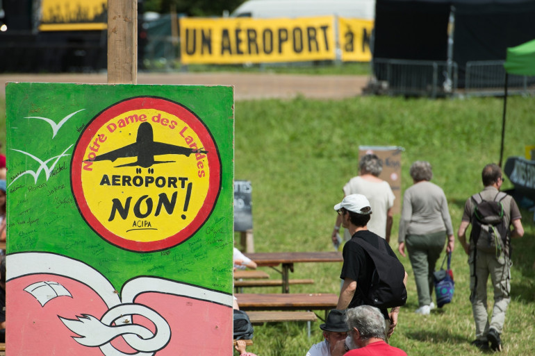 Des opposants à l'aéroport de Notre-Dame-des-Landes