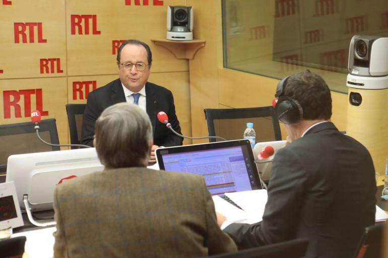 """François Hollande, invité de """"RTLSoir"""", le 14 décembre 2017"""