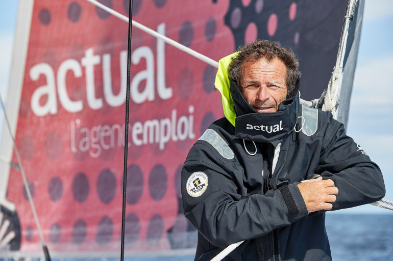 Yves Le Blévec a chaviré au large du Cap Horn