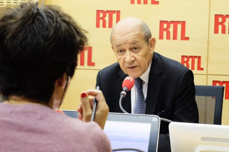 Jean-Yves Le Drian était l'invité de RTL le 1er septembre 2017