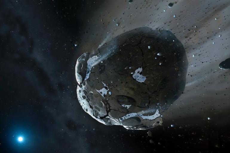 Visuel d'artiste d'un astéroïde