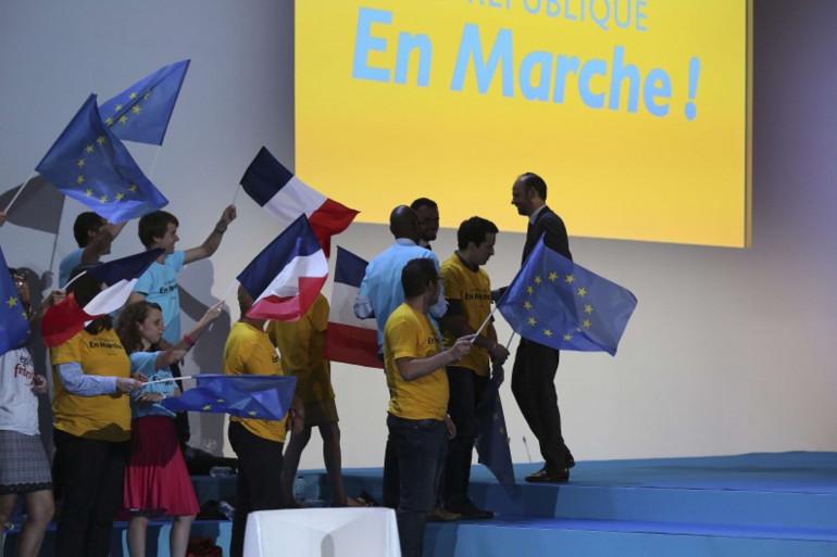 Des militants de la République en Marche lors de la convention du parti le 8 juillet 2017 à Paris.