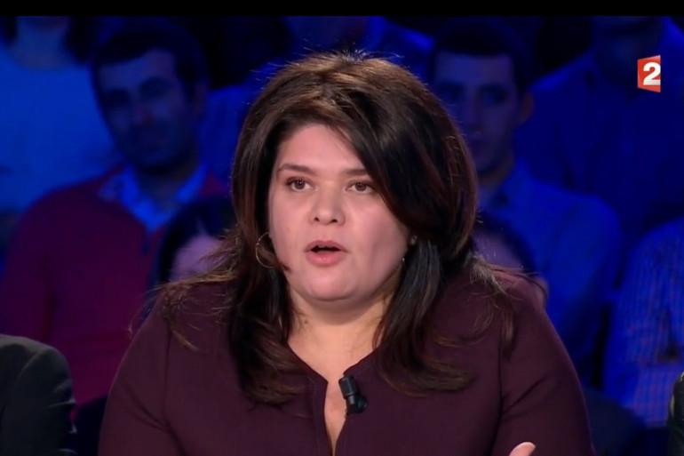 """Raquel Garrido sur le plateau de """"On n'est pas couché"""", le 16 décembre 2017"""
