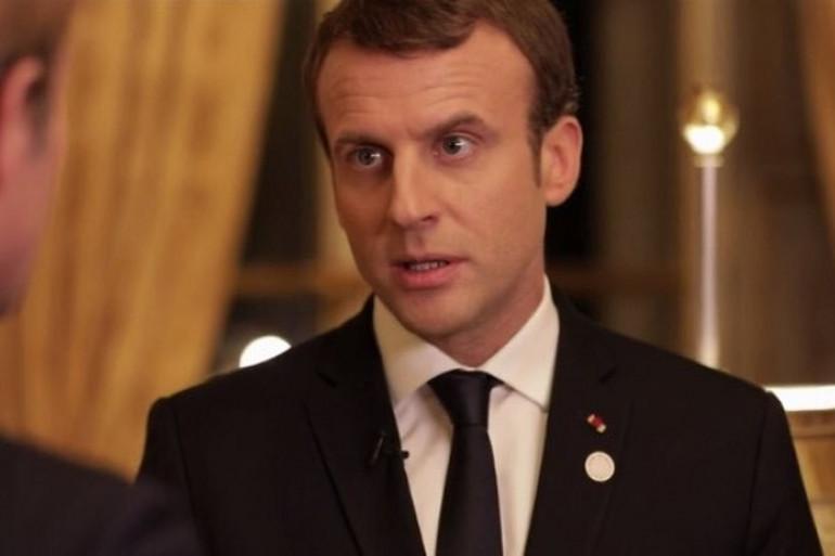 Emmanuel Macron lors d'une interview sur France 2 diffusée le 17 décembre