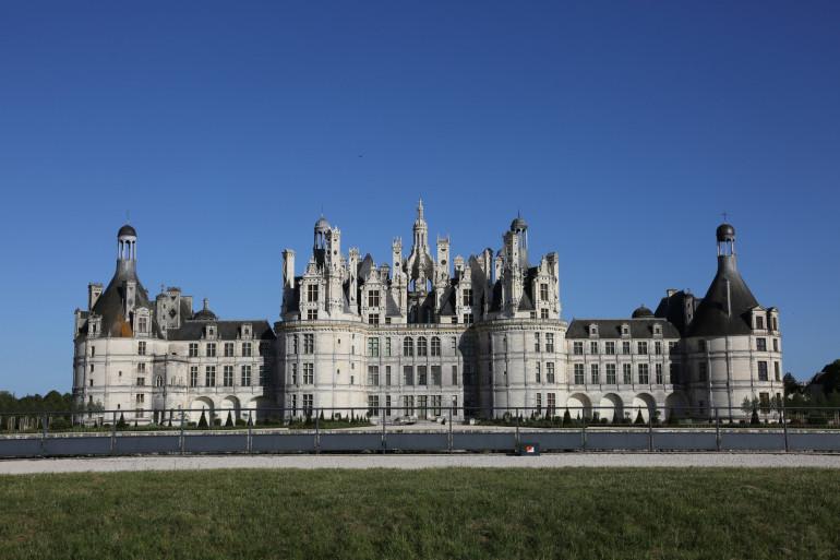 Une vue du château de Chambord (Illustration)