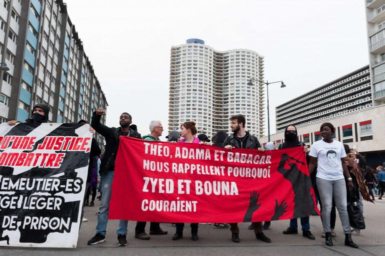 Une manifestation contre les violences policières à Rennes en mars 2017