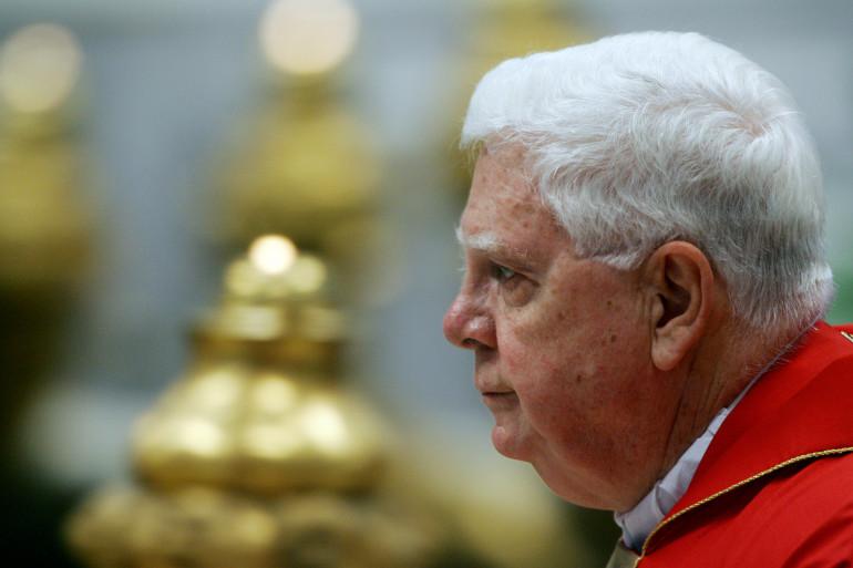 Le cardinal américain Bernard Law, le 11 avril 2005
