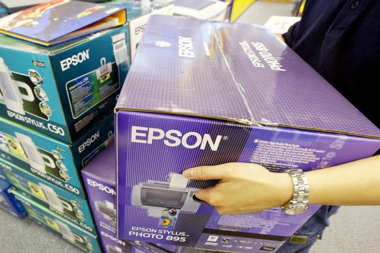 Des imprimantes Epson, le 16 avril 2002