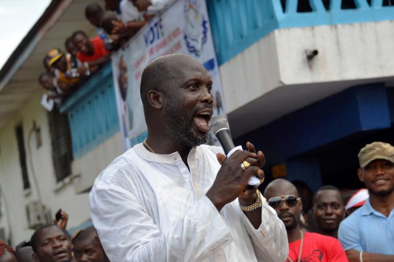 George Weah a été élu président du Liberia