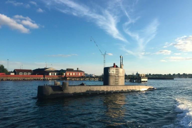 """Le sous-marin """"Nautilus"""", où la journaliste Kim Wall aurait été assassinée, en août 2017"""