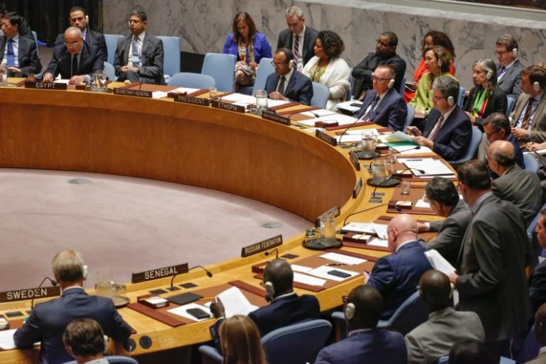 Le Conseil de sécurité de l'ONU, le 11 septembre 2017.
