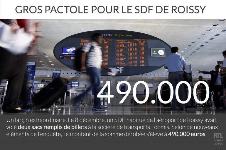 Le SDF qui avait volé deux sacs de billets à Roissy a empoché 490.000 euros.