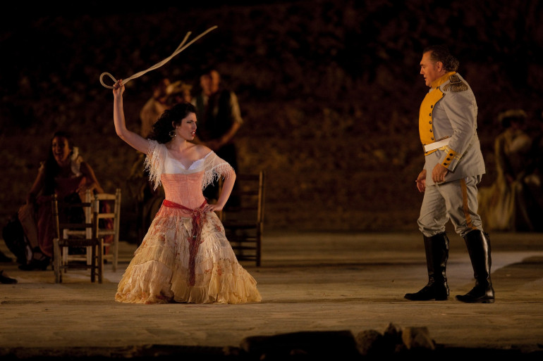 """Une version de """"Carmen"""" à l'opéra de Massada, en juin 2012 (illustration)"""
