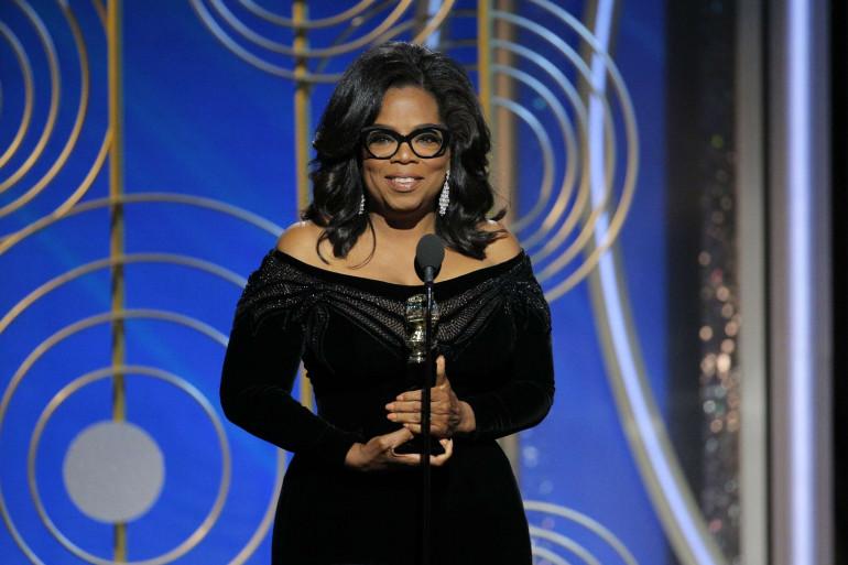 """Quand Oprah Winfrey, papesse de la télévision américaine, a donné un long discours digne d'une présidente. """"Je veux le dire à toutes les filles qui m'écoutent : un nouveau jour est à l'horizon !"""""""