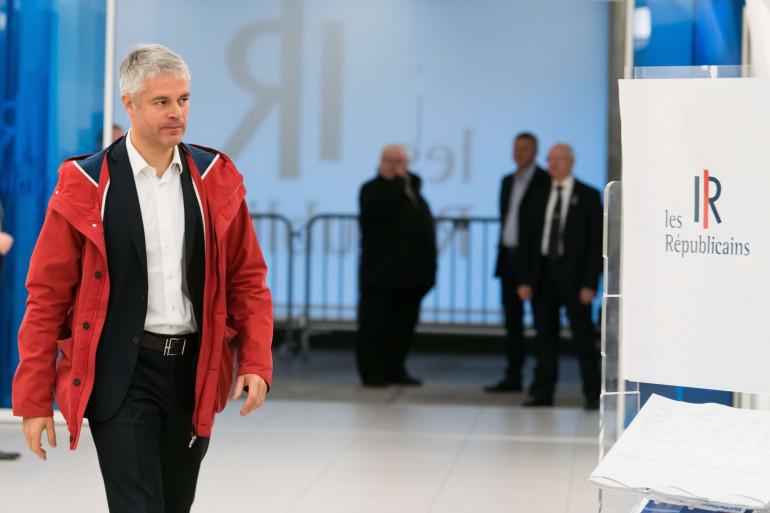 Laurent Wauquiez, au siège des Républicains à Paris