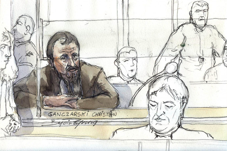 Croquis du procès de Christian Ganczarski le 5 janvier 2009.