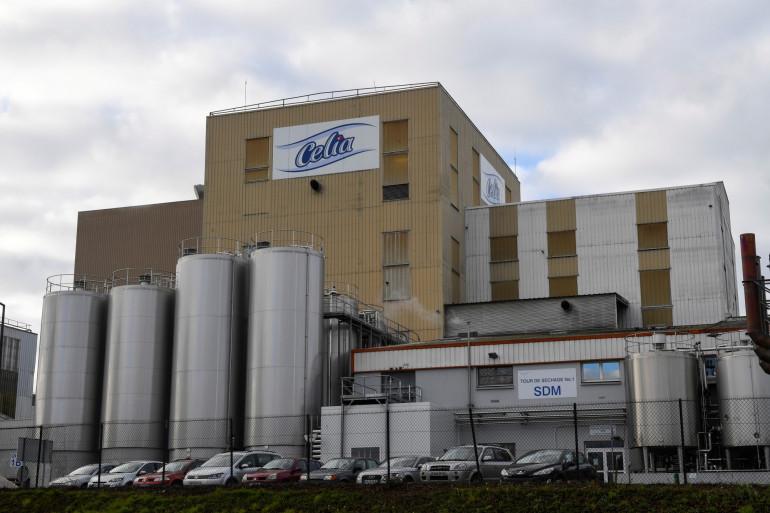 L'usine de la société laitière Celia qui appartient au groupe LNS Lactalis, à Craon.