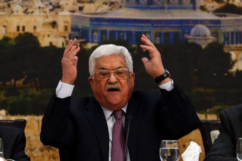 Le président Palestinien Mahmoud Abbas, à Ramallah le 14 janvier 2018
