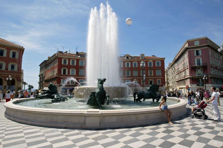 La place Masséna à Nice (illustration)