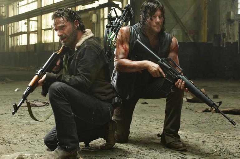 """Rick et Daryl, héros de la série """"The Walking Dead"""""""