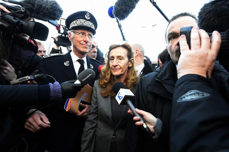 Nicole Belloubet, en déplacement à la prison de Vendin-le-Vieil le 16 janvier 2018