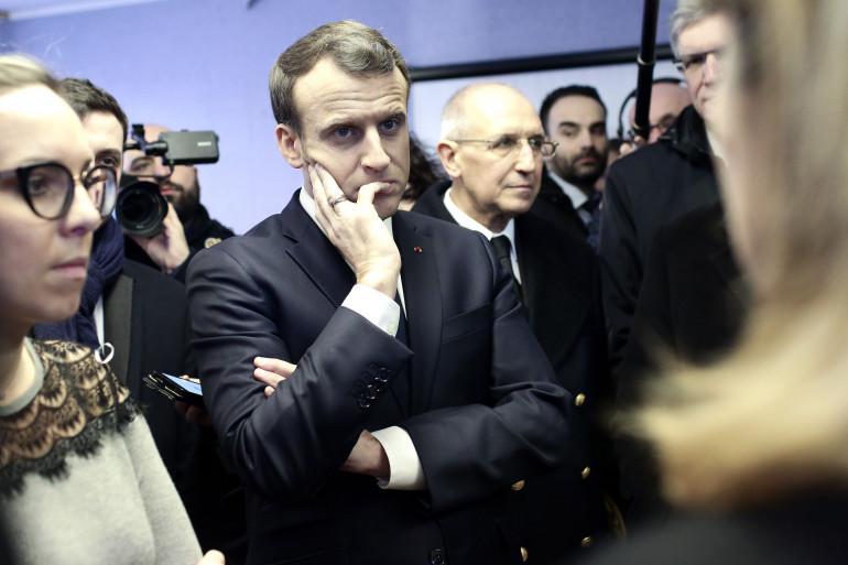Emmanuel Macron en visite dans le Pas-de-Calais, le 16 janvier 2018