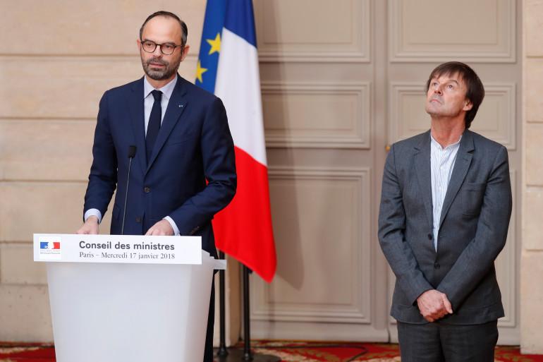 Édouard Philippe et Nicolas Hulot, le 17 janvier 2018