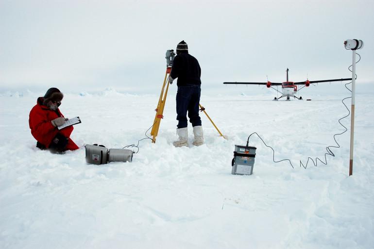 Une expédition au pôle Nord (illustration)