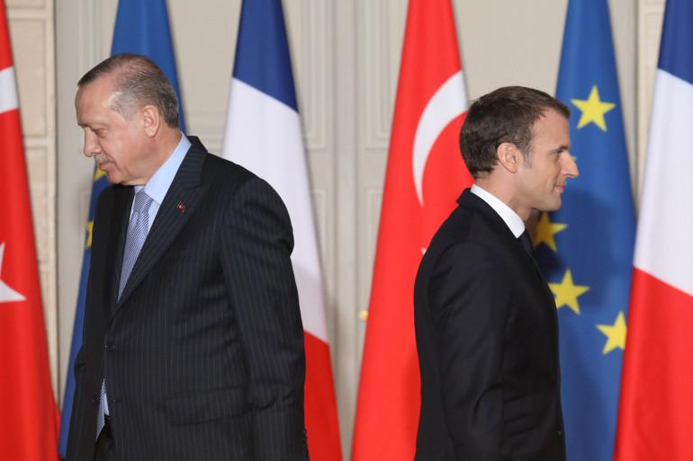 Recep Tayyip Erdogan et Emmanuel Macron le 5 janvier 2018 à Paris